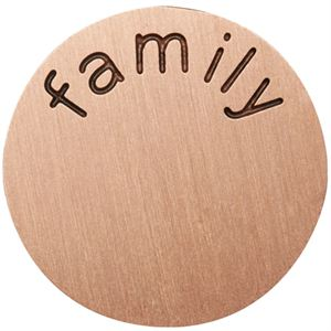 Picture of 'Family' Large Rose Gold Coin