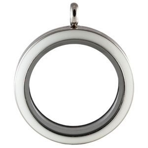 Picture of Large Silver with White Locket