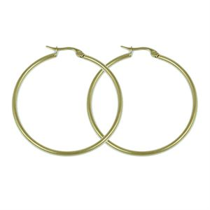 Picture of Gold Round Hoop Earrings