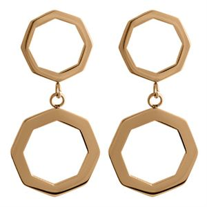 Picture of Rose Gold Octagonal Duo Hoops
